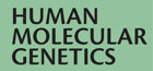 Logo Human Molecular Genetics. Scientific publication